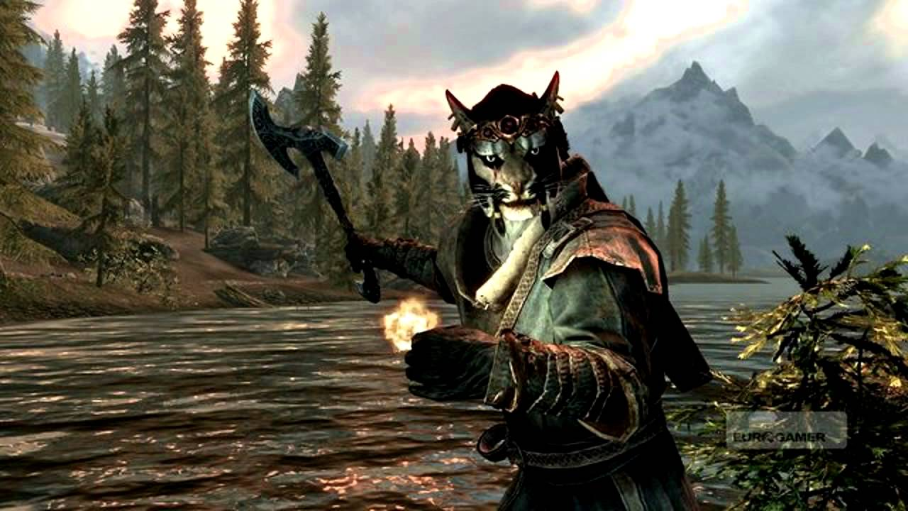 Skyrim Nord And Khajiit Screenshot Hd - Youtube-5445