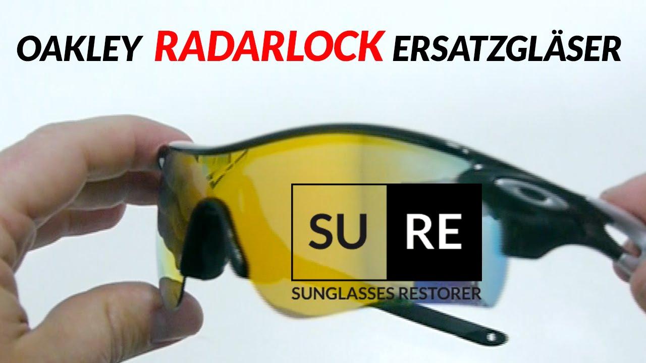 Oakley Radarlock Ersatzgläser - Wie tauscht man die Gläser? - YouTube