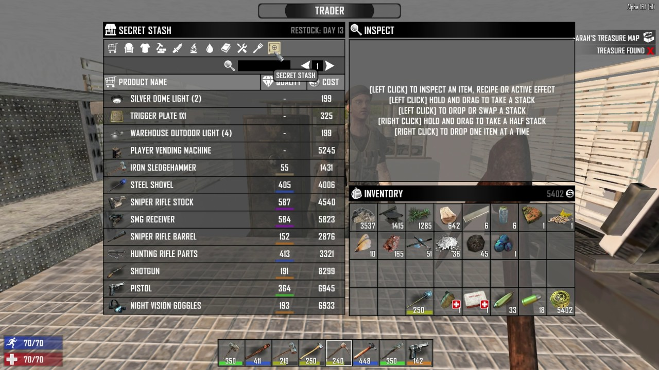 How To Access Secret Stash Of Trader 7 Days To Die Youtube