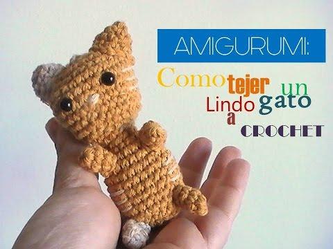 Amigurumi Gato Paso A Paso : Amigurumi a crochet: como tejer un lindo gato llavero diestro