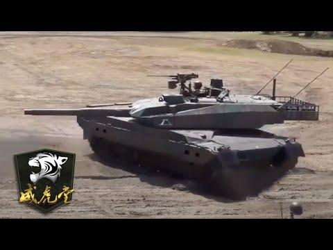 实拍日本10式主战坦克行