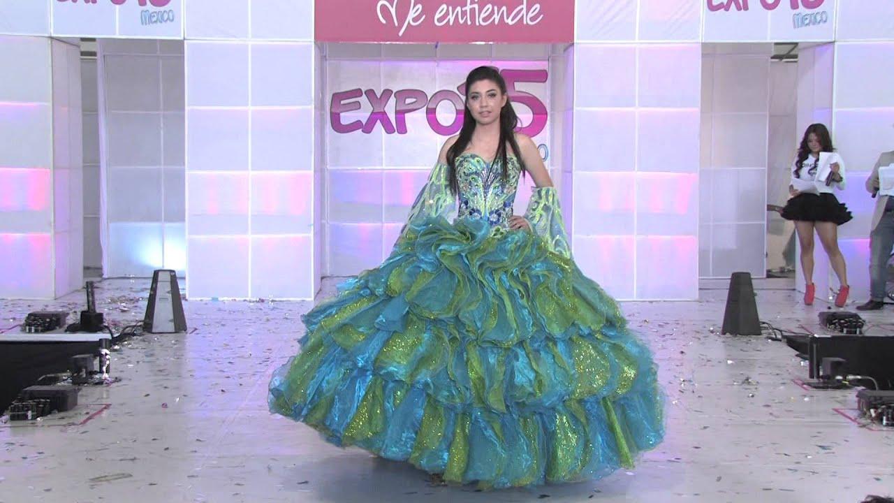 Expo 15 México. Pasarela de vestidos de 15 años, Diseñador José Luis ...