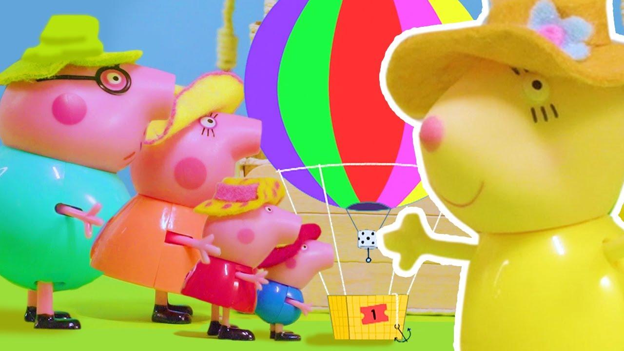 Peppa Pig's Hot Balloon Ride   Peppa Pig Stop Motion   Peppa Pig Toys   Toys fir Kids