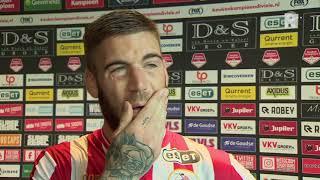 Emotionele Lars Veldwijk weer belangrijk voor Sparta: 'Maar moet meer goals maken'