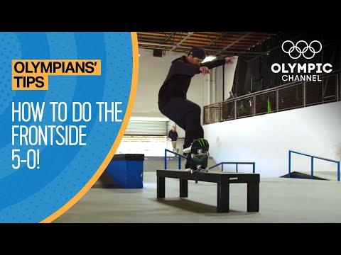 How to do a Frontside 5-0 feat. Kelvin Hoefler   Olympians' Tips