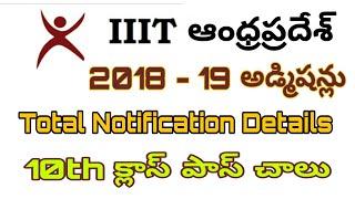 IIIT Andhra Pradesh Admissions 2018 | IIIT Admissions 2018 Notification | Venugopal Kemburu Jobs