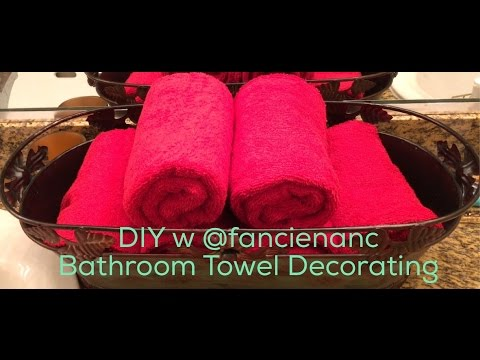 DIY with @fancienanc Decorating A Guest Bathroom with New Towels