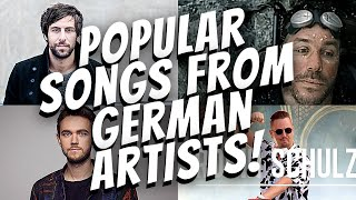 Popular songs from German artists!