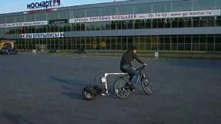 pusher trailer / велоскутер (часть2)