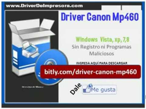 Canon pixma mp460 scanner treiber windows 7.