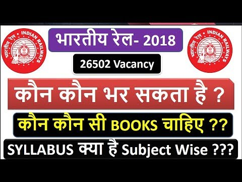 Railway Loco Pilot and technicians 2018 | Qualification | Eligibility, Syllabus Subject Wise | Books