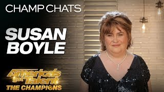 Susan Boyle Describes Her Iconic Golden Buzzer Moment - America's Got Talent: The Champions