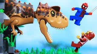 Lego Superhero World Stop Motion Jurassic World | Dangerous T Rex