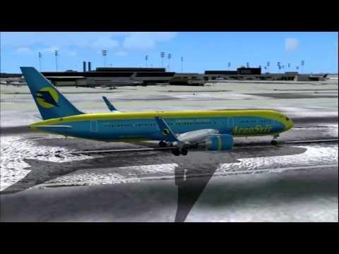 Aerosvit VV131 767-300ER UR-AAH Kiev (KBP) - New York (JFK)