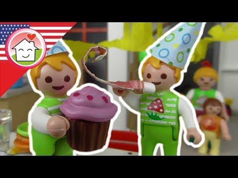 Playmobil english The Twins' Birthday - The Playmobil Hauser Family