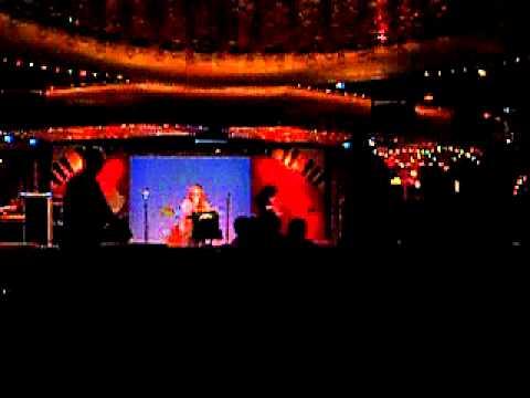 Pamela Trahan singing Invincible at Karaoke