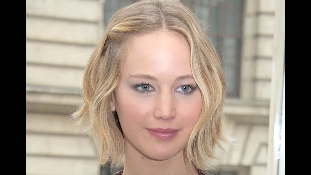 Jennifer Lawrence Wavy Bob Hair Report Youtube