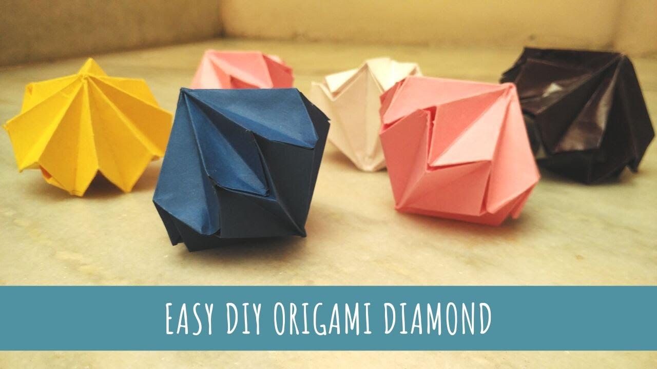 Origami Pyramid Pixels for 3D Paper Wall Art | 720x1280