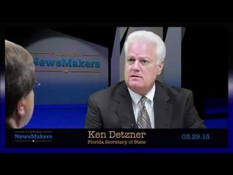 Florida NewsMakers: Florida Secretary of State, Ken Detzner