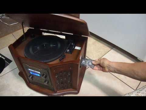 Innovative Technology ITRR-501 RETRO  turntable , record cd  tape player recorder
