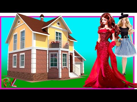 Большой Двухэтажный Домик для кукол с мебелью Своими РУКАМИ Дом для Барби Монстер Хай Винкс