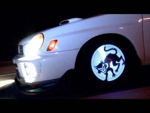 ➽ Анимация на колесах автомобиля   Fantasma OWL 2 - анимация на колесах автомобиля