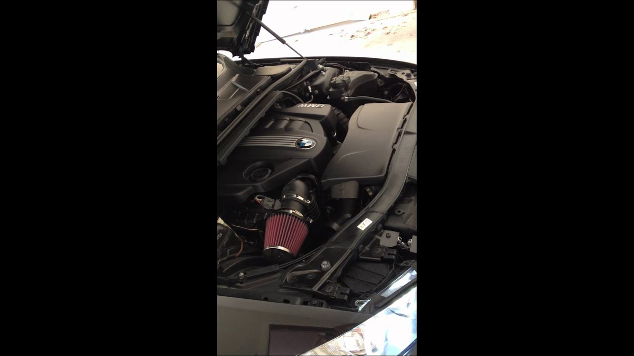 bmw e92 320d k n performance intake youtube. Black Bedroom Furniture Sets. Home Design Ideas