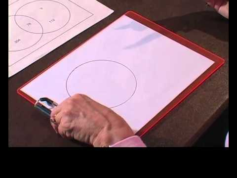 Compasses With A Clipboard Drawing A Print Venn Diagram Youtube