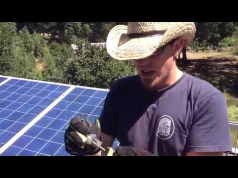 How to install 4100 Watt Solar Panel Array  Solar Off Grid System Installation Video
