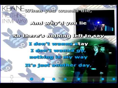 Nothing In My Way (Keane) Karaoke