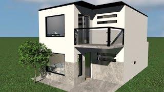 Casa 6 x 6 m / House 6 x 6 / Rumah 6 x 6 m