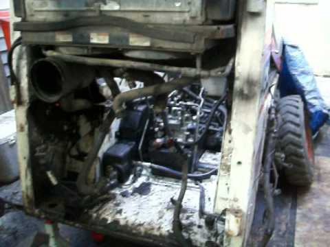 463 Bobcat engine removal & hydrolic lines installations  YouTube