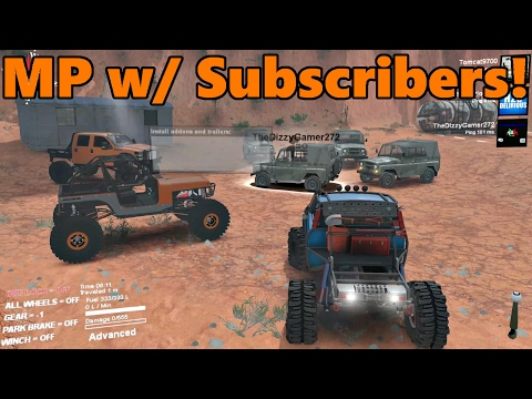 Spin Tires MODDED MULTIPLAYER w/ Subscribers! | Rock Crawling at Moab