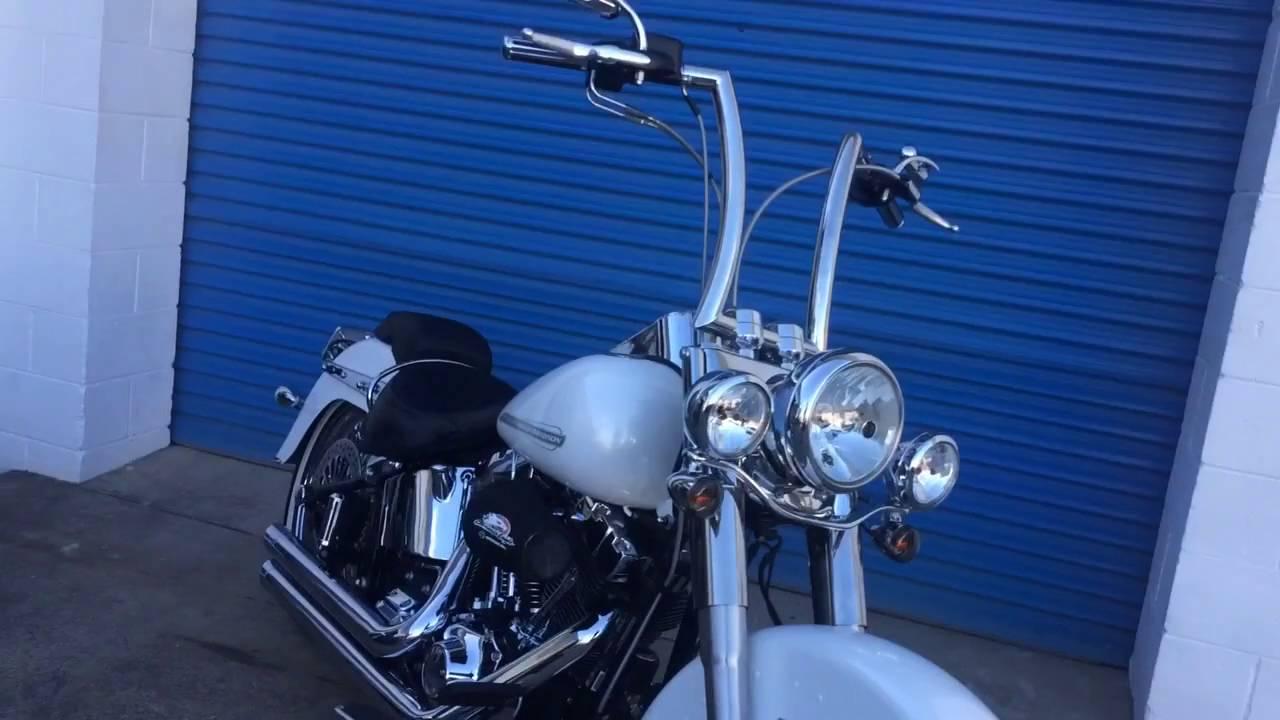 """Harley Softail Slim >> Burleigh Bars Australia: Jo's Deluxe 16"""" Highballs - YouTube"""
