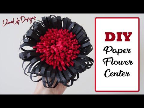 DIY Paper Flower Center - How to make Paper Flower Center