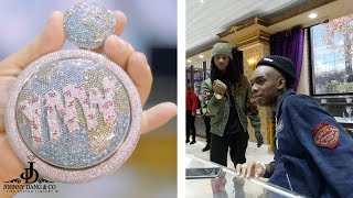 INSANE NEVER BEFORE SEEN YNW MELLY $100K SPINNING EARTH PENDANT