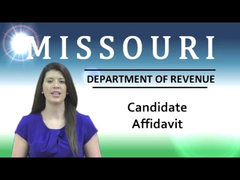 Candidate Affidavit Requirements