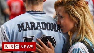 Diego Maradona: Thousands mourn football icon - BBC News