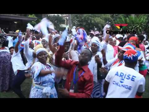 NPP supporters jubilate following President Mahama's concede