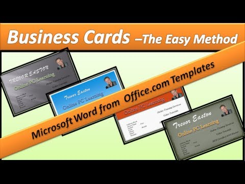 Business Card - Make Business Cards - Microsoft Word 2010 - YouTube