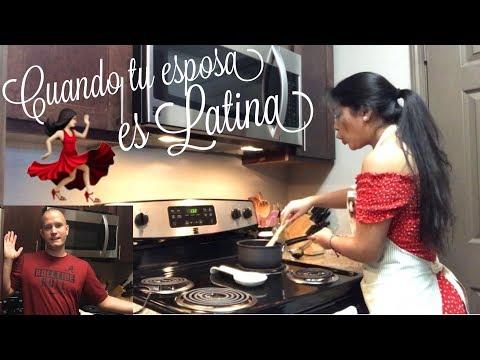 CUANDO TU ESPOSA ES LATINA | DIVERTIDO SKETCH CON MI ESPOSO