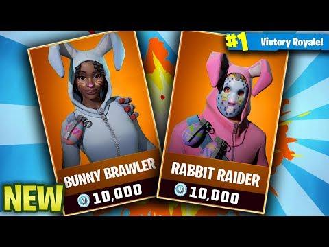 New fortnite skins bunny brawler rabbit raider fortnite battle royale easter skins gameplay - Fortnite bunny brawler ...