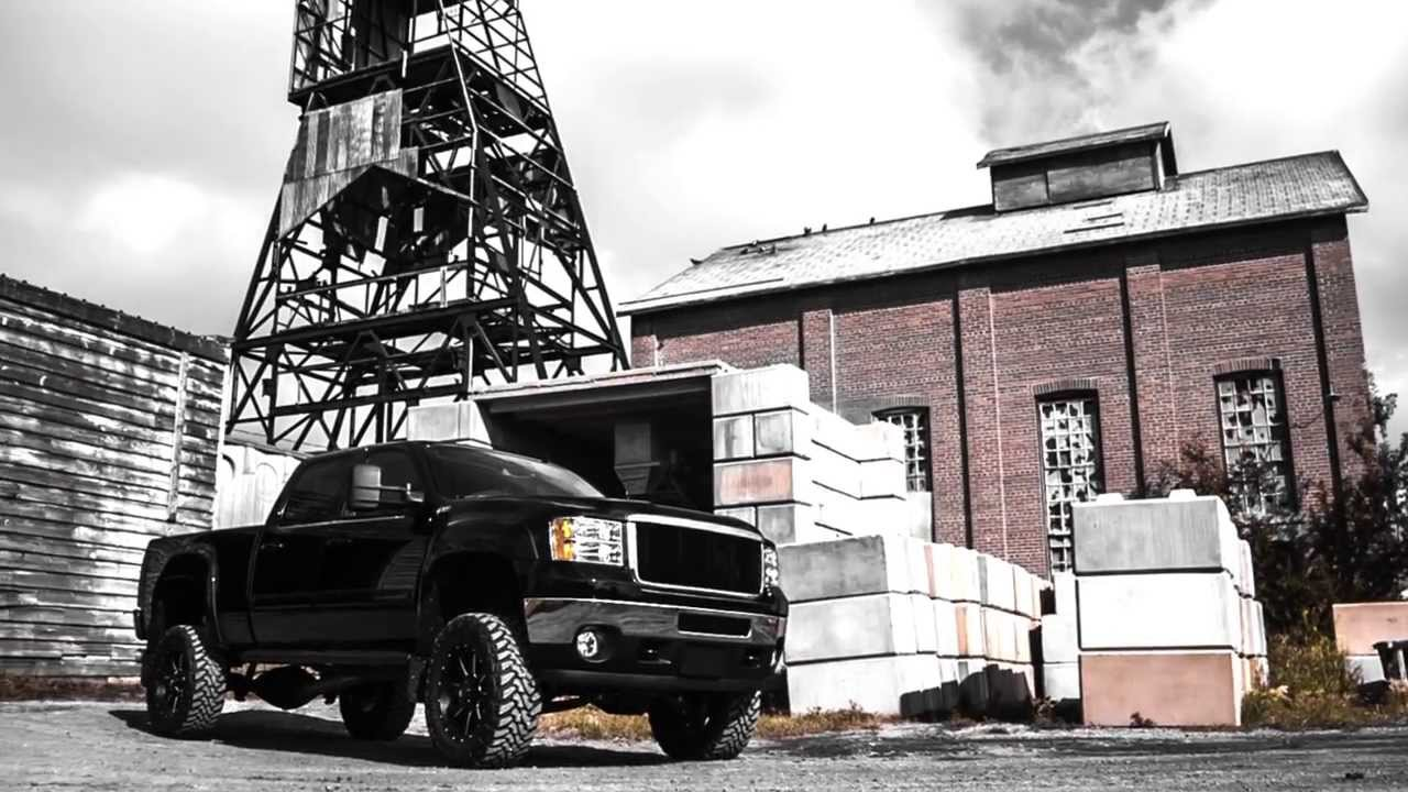 Lifted Off Road Black Gold Derrick | Custom Black GMC Sierra | Davis GMC Buick Lethbridge - YouTube