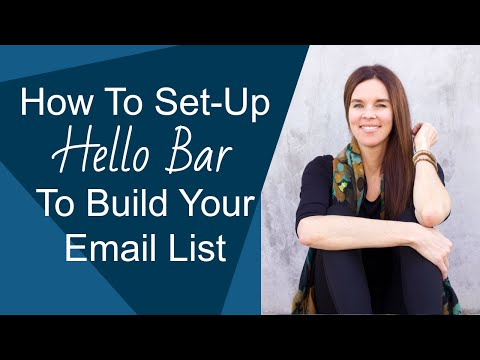 "How To Set-Up ""Hello Bar"" To Increase Your Email List Subscribers (WordPress)"