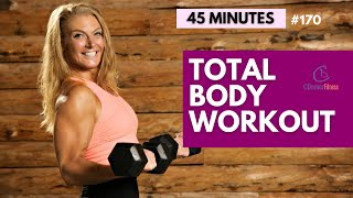 45 Minute Full Body Workout with Dumbbells | Tone up for Summer|