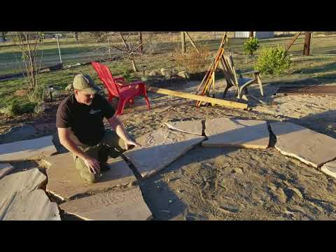 Flagstone Patio and Firepit Construction Tips