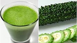 HOW TO MAKE BITTER MELON Karela Smoothie Green Juice कड़वा तरबूज करेले के फ़ायदे|
