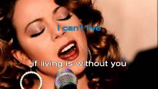 WITHOUT YOU - MARIAH CAREY - KARAOKE