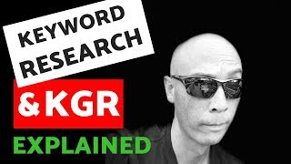 Keyword Research for Affiliate Sites and the Keyword Golden Ratio