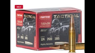 Norma 7.62x39 ammo on sale! Use Code FMJ to save 10%